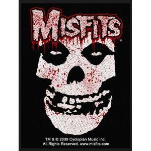 Misfits Bloody Fiend Official Woven Rock Music Band Badge