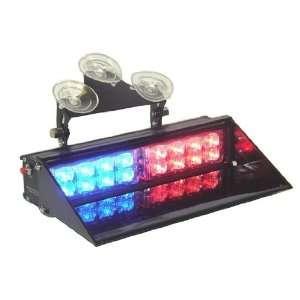A.P. Dash Mount LED Police Light Bar RED/BLUE 15 Modes
