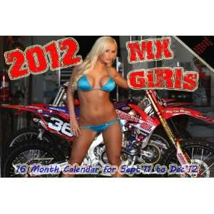 2012 MX GIRLS BIKINI CALENDAR supercross motocross Office Products
