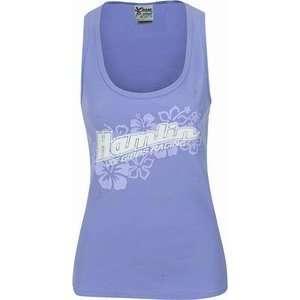 Denny Hamlin Blue Ribbed Ladies Tank Top Sports