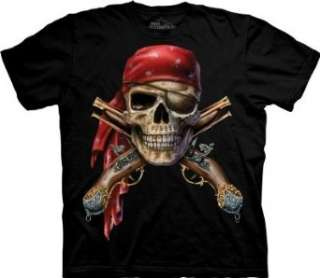 The Mountain Skull & Muskets Mens Black T shirt Clothing
