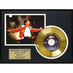 Michael Jackson Beat It Gold Record Limited Edition