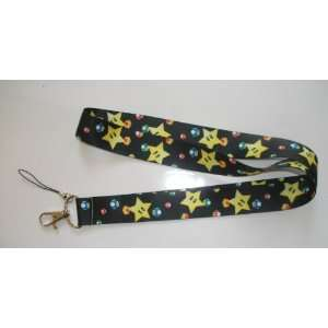 Super Mario Bros. YELLOW STAR Mobile Cell Phone Key Holder