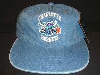 Denim Charlotte Hornets NBA Buckle Back Flat Bill Cap