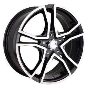 18x7.5 Akita AK 48 (485) (Black w/ Machined Face) Wheels