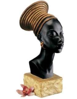 Regal Nubian Queen African Sculptural Bust
