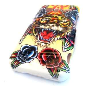 HTC Droid Incredible ADR6300 Tiger Rose Tattoo Flash Art Gloss 3D