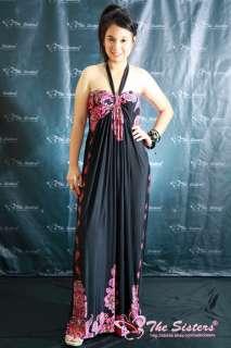 NWT Womens Halter Prom Black Party Summer Long Maxi Dress XL XXL 3XL