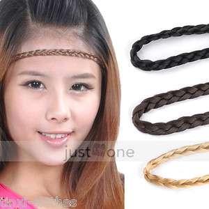 Belly Dance Headwear Hair Decoration Braid Wig Pigtail Elastic Head