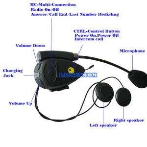 Bluetooth Motorcycle Helmet Intercom Speaker 500m