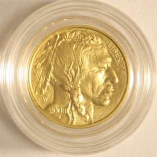 2008 W American Buffalo Gold Uncirculated Four Coin Set COA & Mint Box