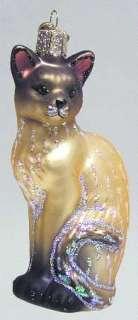 Merck Familys XMAS ORNAMENT Tan Siamese Cat 7680660