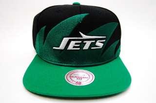 New York Jets Sharktooth M&N Snapback NFL Mens Cap NY