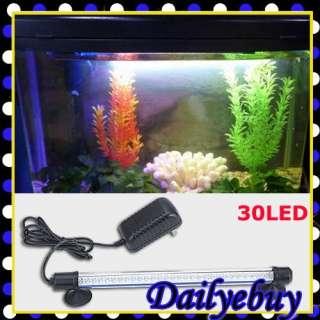 30 LED Lights White Bar Fish Tank Aquarium Waterproof