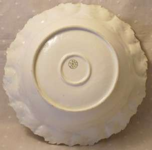 Porcelain Rose Applique Bowl Made In Germany 100+ Years Old