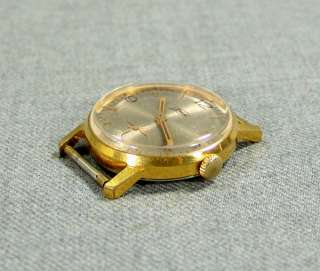 SOVIET USSR RUSSIAN GOLD ZIM GENT MEN WRISTWATCH~JEWELS