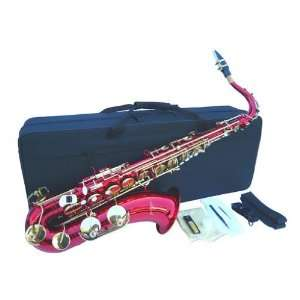 Red Tenor Saxophone Sax w/case Approved+Warranty Musical Instruments