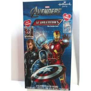Marvel The Avengers Valentines Day Cards (Box of 32