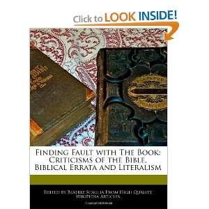 Biblical Errata and Literalism (9781240442867) Beatriz Scaglia Books