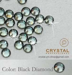 720 Black Diamond Iron on Hot fix Rhinestones 3mm 10ss