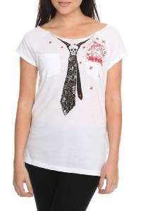 Abbey Dawn ~Avril Lavigne Tie Pocket Top S M L XL NWT