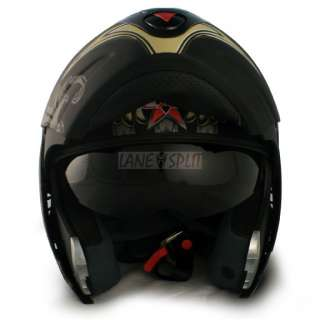 Vcan BLINC 210 Flip Face Modular Bluetooth Helmet (AVIATOR, Medium)