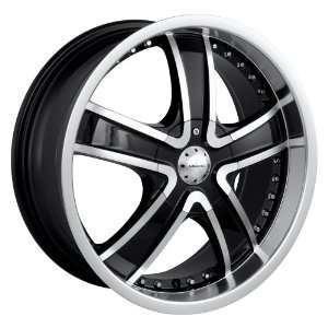 20x8.5 Veloche Velvet (565) (Black w/ Machined Face & Lip) Wheels/Rims