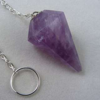 You are considering a beautiful Amethyst crystal pendulum with an