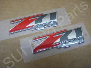 Chevy GMC Truck SUV Z71 4x4 Emblems Silverado Sierra Set of 2 (C63 3z