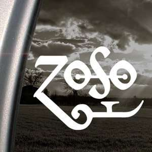 Led Zeppelin Decal Page Rock Band Window Sticker Automotive
