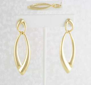 14KT Yellow Gold Ep 2.5 High Fashion Point Dangle Earrings