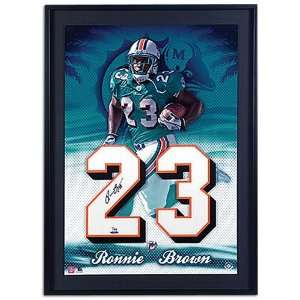 Dolphins Upper Deck Brown Auto. Jersey Numbers Collection