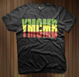 YMCMB Young Money Cash Money T Shirt Lil Wayne Drake Nicki Minaj RASTA