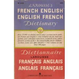 Larousses French English English French Dictionary Books