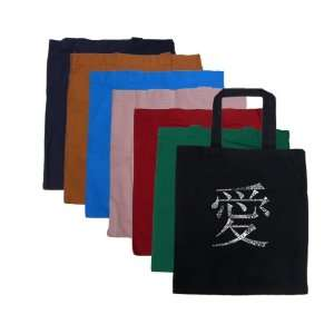 Small Red Chinese Love Symbol Tote Bag   Made using the word LOVE in