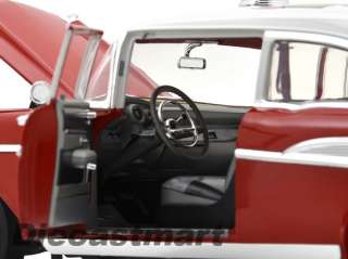 HIGHWAY 61 1:18 1957 CHEVY BEL AIR SEDAN NEW DIECAST MODEL CAR RED