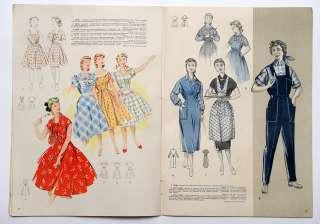 1957 Russia Soviet Fashion House EXCELLENT Album Magazine WOMEN