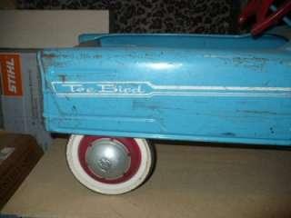 Vintage Tee Bird Pedal Car 1960 Steel Car Unrestored