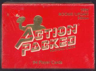 1991 Action Pack NFL Football Rookie Update sealed set