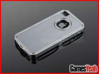Diamond Aluminium Case Cover For All iPhone 4 4S 4G + Film