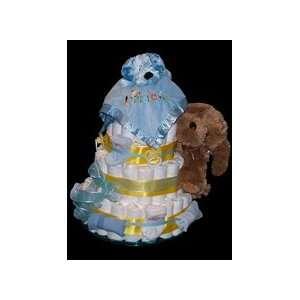 3 Tier Playful Puppies Diaper Cake   Puppy Dog Baby Boy