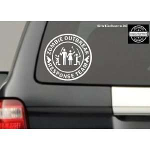 Figure Family Decal Zombie Outbreak Response Team Zombies Vinyl Decal