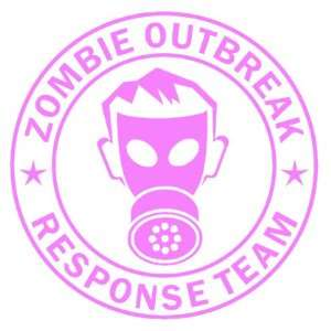 Zombie Outbreak Response Team IKON GAS MASK Design   5 PINK   Vinyl