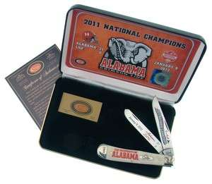 Alabama Crimson Tide 2011 BCS National Champions Knife White W R Case