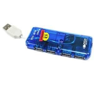 4 Port Mini USB HUB High Speed 480 Mbps PC Slim