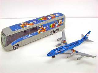 NEW Disney World Parks Mickey 2012 Matchbox Diecast Bus & Airplane 2