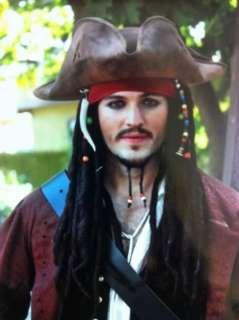 Deluxe Pirate Wig~Jack Sparrow~Mens Costume Halloween
