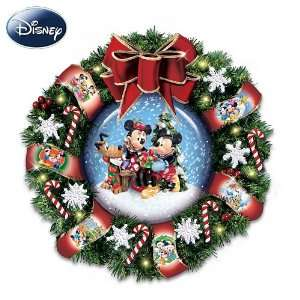 Disney Mickey, Minnie And Pluto Let It Snow Snow Dome