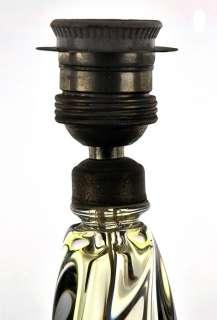 2424/VAL SAINT LAMBERT CRYSTAL GLASS LAMP STAND 1950/60