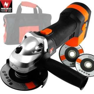 24V 4 1/2 Cordless Angle Grinder with Grinding Wheels 24 volt